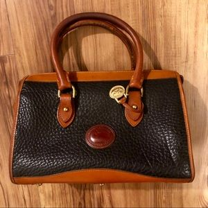 Dooney Black AWL British Tan Satchel vintage